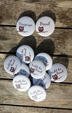 XXL-JGA-Button-Set Eulen von zartbesaitet auf DaWanda.com