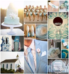something blue! #wedding #blue #cake