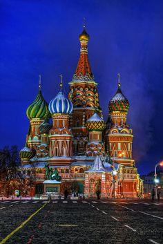 """""""Catedral de São Basílio"""". # Moscou, Rússia."""