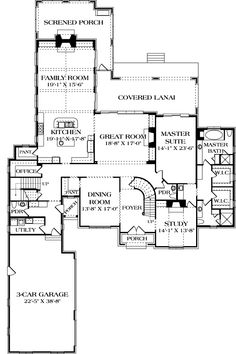 Fairmont House Plan (Plan #: BHG-3187) First Floor Layout