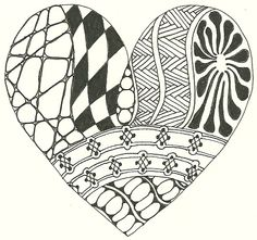 Zentangle Heart.