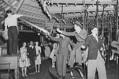 Glen Echo Merry Go Round Scene 1940s 4x6 Reprint Of Old Photo