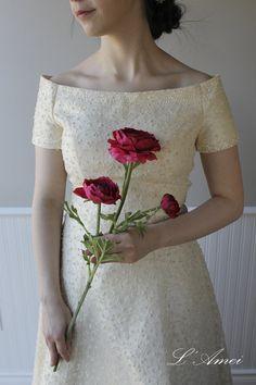 Custom made Old Hollywood Argento Wedding Gown , Hand beading vintage Style Wedding dress $386.01