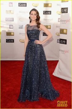 Like this dress but would perfer it in another color, (I'm thinking a light pink or coral!)  Emmy Rossum - Critics' Choice Awards 2013 Red Carpet. l