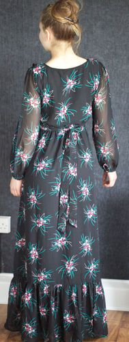 Yumi Maxi Dress ,Yumi Long Dress,Romantic Dress, Vintage Dress,Chiffon Dress