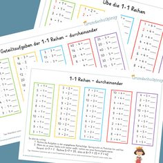 Home Schooling, Periodic Table, Homeschool, Classroom, How To Plan, Diagram, Initials, German Language, Learning Multiplication Facts