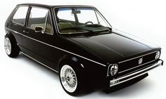 Gorgeous Black VW Golf GTI I had a chance to buy a REALLY clean one of these a couple of years ago. Volkswagen Golf Mk1, Scirocco Volkswagen, Volkswagen Thing, Vw Mk1 Rabbit, Golf 1 Cabrio, Jetta Mk1, Golf 2, Disc Golf, Golf Ball