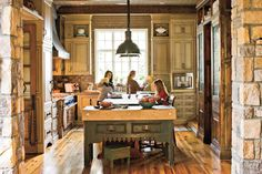 Antique Inspiration - 110 Beautiful Kitchens - Southernliving. The antique pieces in this kitchen inspired the rustic elegance of the cabinetry and finishes.