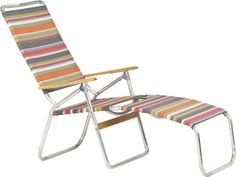 Stripe Folding Chaise Lounge in Outdoor Lounging | Crate and Barrel