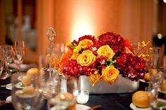 Golden & Vibrant Perfection! Photography by scobeyphotography.com, Centerpiece by  http://davinciflorist.us