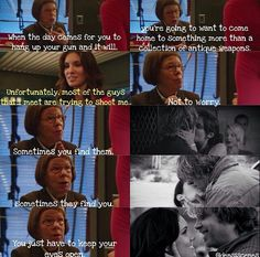 NCIS LA - S2E23 Hetti dropping some advice on Kensi... I love how the edit has been done with Deeks :)