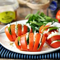 Hasselback Caprese Salad #foodgawker