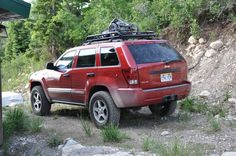 """255/70/17, 2"""" lift/1.5""""spacers RED WK CLUB! let's see them! Join! - Page 9 - JeepForum.com 2005 Jeep Grand Cherokee, Jeep Wk, Black Jeep, Custom Jeep, Jeep Liberty, Jeep Cars, Jeep Wrangler Unlimited, Mopar, Jeep Vehicles"""