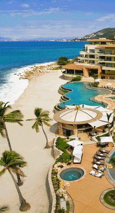 Take a stroll down the beach of Banderas Bay. #Mexico