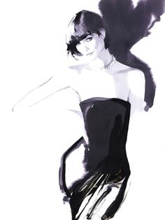 Karlie Kloss by David Downton.                                                                                                                                                     More