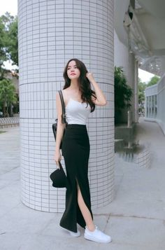 charming casual dress ideas to fashion your revamp around page 29 Korean Fashion Trends, Korea Fashion, Korean Street Fashion, Kpop Fashion, Asian Fashion, Girl Fashion, Fashion Quiz, 2000s Fashion, Fashion Tips