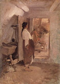 Old Woman Sewing Nicolae Grigorescu Wholesale Oil Painting China Picture Frame 30793 Fantasy Story, Story Characters, Art Station, Matisse, Old Women, Traditional Art, Painting & Drawing, Apples, Masters