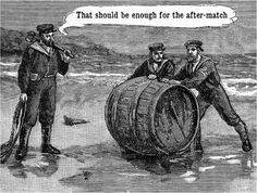 Rugby After-Match Postcard. Vintage Rugby humor. Celebrate your after-match…