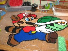 Mario racoon perler beads by ndbigdi on DeviantArt