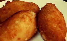 Croquetas de pollo Thermomix TM5 Cornbread, Baked Potato, Muffin, Potatoes, Baking, Vegetables, Breakfast, Ethnic Recipes, Queso Manchego