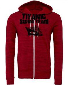 titanic swim team Zipper Hoodie