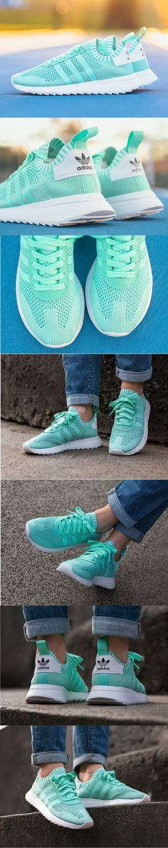 outlet store 8110b b5e1f  Adidas  Flashback  Primeknit W  Easy  Green