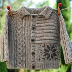 Layette gilet gris en laine 3 mois neuf tricoté main