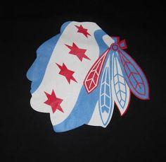 Chicago Flag Blackhawk | New and Used Chicago Blackhawks Chicago Flag Shirt for Sale - Heat.net ...