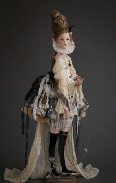 Doll Art by Alisa Filippova Accessories Crafts Enchanted Ooak Reborn Yarn Dolls, Bjd Dolls, Doll Toys, Easy Yarn Crafts, Yarn Crafts For Kids, Halloween Look, Mark Ryden, Enchanted Doll, Audrey Kawasaki