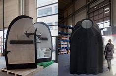Students build #3Dprinted mobile mini #homes.          #design #architectural #3Dprinter