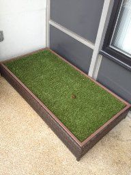 how to make a grass box for dogs