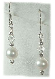 designer jewelry pearl earrings