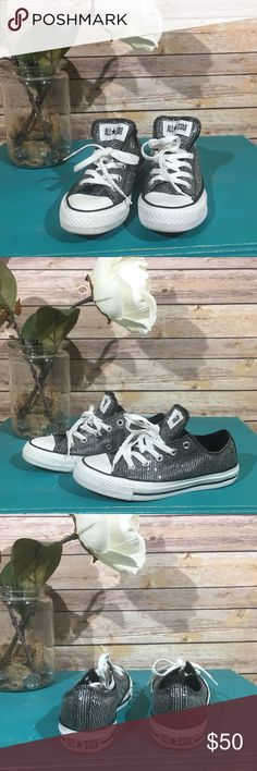 Converse All-Star Black Sparkly Bling Custom Converse All-Star sneakers. Black DISCO-BALL sparkles! So cute and sassy!  Sneaker Athletic Sparkles Bling Custom Converse Shoes Sneakers
