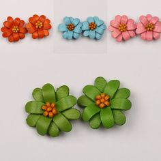 Hey, I found this really awesome Etsy listing at https://www.etsy.com/listing/471031545/leather-flower-earrings-flower-earrings