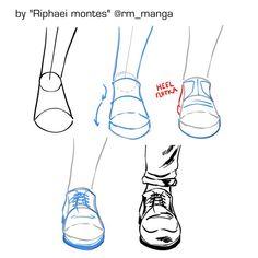 e draw manga🎨 on Instagra Pencil Art Drawings, Art Drawings Sketches, Easy Drawings, Cartoon Drawings, Manga Drawing Tutorials, Drawing Techniques, Art Tutorials, Feet Drawing, Body Drawing