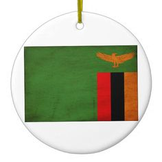 Shop Zambia Flag Ceramic Ornament created by Zipperedflags. Zambia Flag, National Symbols, Love Your Home, Flag Design, White Porcelain, Flags, Family Photos, Ceramics, Ornaments