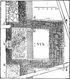 """Budynek VI H (from: """"Mycenaean Troy, based on Dörpfeld's excavations in the sixth of the nine buried cities at Hissarlik"""" 1903)"""