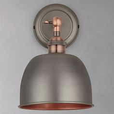 Buy John Lewis Baldwin Wall Light, Pewter / Copper Online at johnlewis.com
