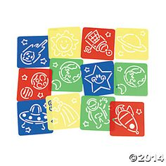 Space 5 inch Stencils - 12 Pk Party Supplies Canada - Open A Party