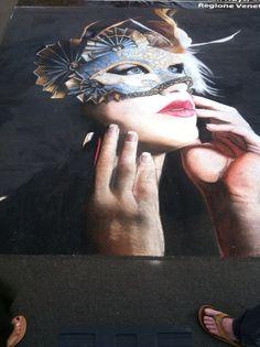 Sidewalk chalk art, 2012 San Diego's Little Italy Art Walk