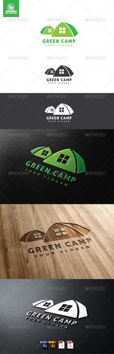 Green Camp Logo Template by logohero Green Camp Logo Template is An excellent logo template highly suitable for logo company, club, holiday, event These files consist