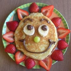 Happy breakfast food fruit chocolate breakfast fruits strawberry pancakes food art banana food art images food art photos food art pictures food art pics