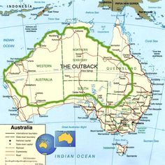 This Is A Map Of Australia Showing All Major Towns And Cities - Map of western australia with towns