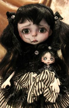 OOAK Fairy Tale Victorian Goth Monster Art Doll Fairies Goth A Gibbons DMA | eBay