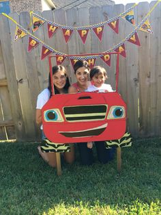 Blaze and the monster machines party frame