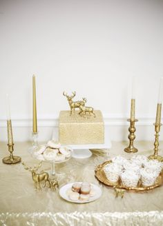 So awesome! Gold and White Winter Styled Shoot