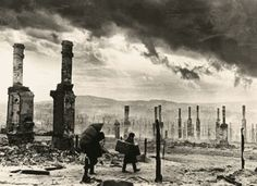 Residential areas of Stalingrad after the bombings.