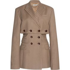 Altuzarra Millett Pinstripe Jacket In Brown Stage Outfits, Kpop Outfits, Cute Outfits, Blazer Fashion, Fashion Outfits, Womens Fashion, Looks Style, My Style, Mode Streetwear