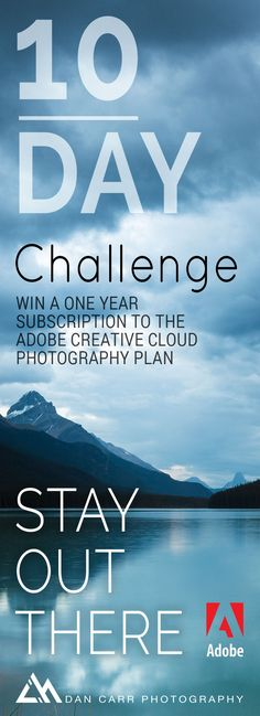Win a one year subscription to the Adobe Creative Cloud Photography plan and improve your photography skills while you're at it!