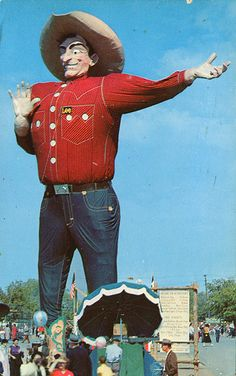 'Big Tex', State Fair, Dallas TX  Have you made your travel arrangements yet? http://www.hiltonanatolehotel.com/